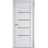 Межкомнатная дверь Новый Стиль Ностра белый матовый Черные Мира Премиум