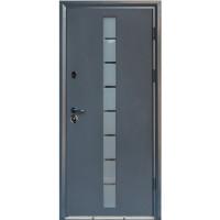 Входная дверь в дом с терморазрывом Вери Двери ГРЕЙ-ГЛАСС